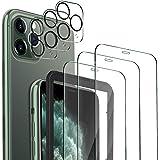 MSOVA Vetro Temperato Compatibile con iPhone 11 PRO, 3 Pezzi Vetro Temperato/Pellicola Fotocamera, Durezza 9H Senza Bolle Pel