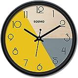 Amazon Brand - Solimo 12-inch Wall Clock - Pie (Silent Movement)