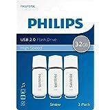 Philips USB 2.0 32GB - Snow Edition Grey, Lot de 3