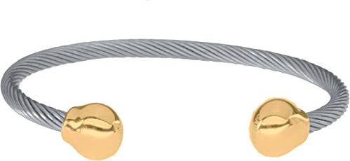 Sabona Magnetarmband OF LONDON Magnetschmuck, Magnet-Powerarmband Twist mit Goldkugeln, Premium Qualität & Design seit 1960