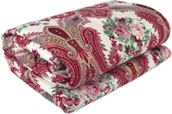 SHOP IT Floral Print Soft and Warm Reversible Poly Cotton Single Bed Reversible Dohar/AC Comfort/Blanket (Single Bed)
