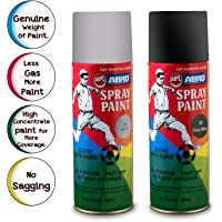 ABRO SP Multipurpose Colour Spray Paint Can for Cars and Bikes - Glossy Black & Silver Combo (400ml)