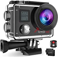 Campark ACT76 Action Cam 4K Wi-Fi 16MP FHD Impermeabile 30M Immersione Sott'Acqua Camera con Schermo 2 Pollici 170 Gradi…