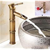 24x7 eMall Premium Single Lever Brass Basin Mixer 30 cms High, Table Mounted with 2 Braided Connection Pipes, Hot and Cold, B