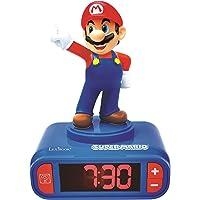 Réveil Nintendo Super Mario pour Enfant - Effets sonores - Horloge Réveil Garçons Superhéros - avec Snooze- Bleu / Rouge…