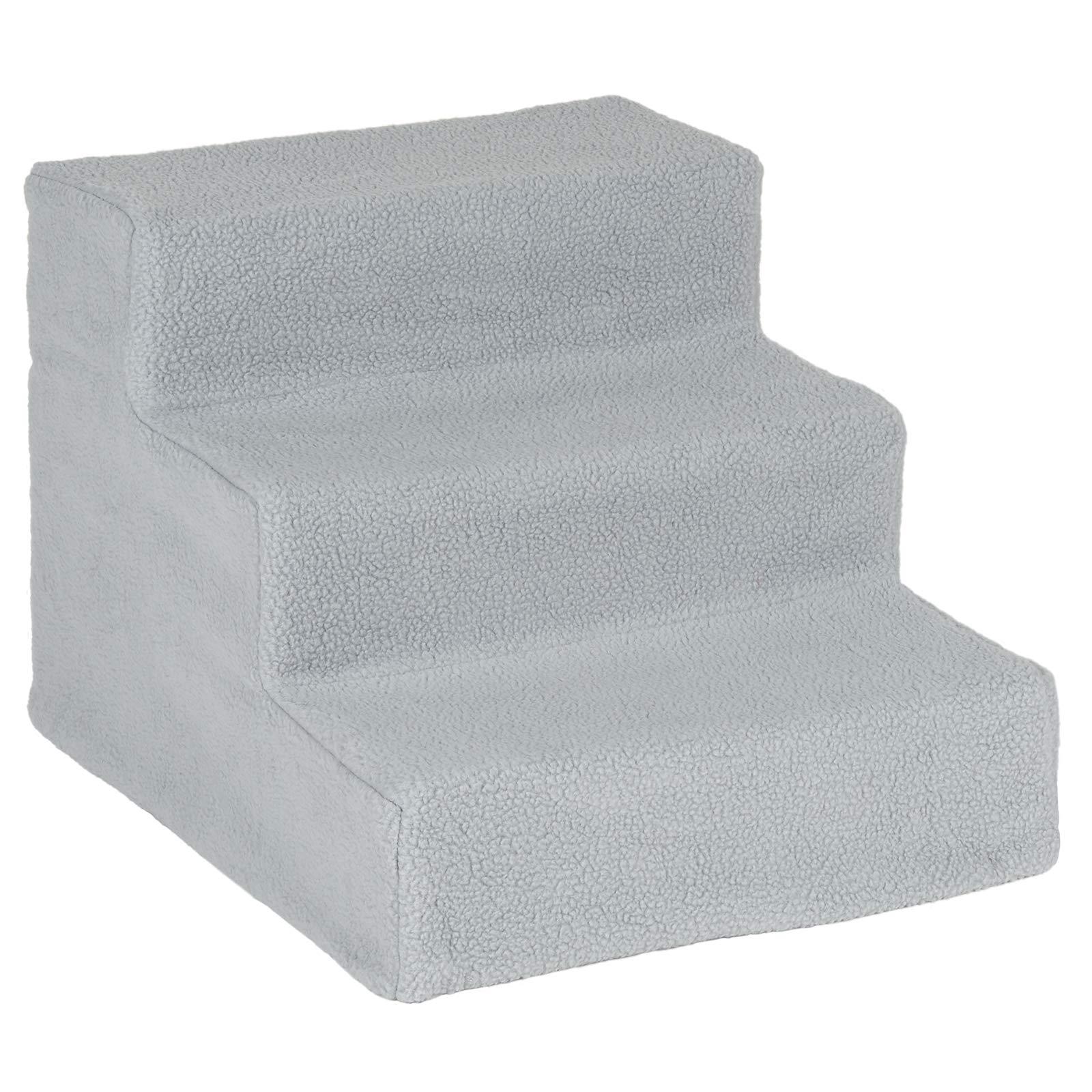 Me and My Easy Climb Fleece Covered Pet Stairs – Grey