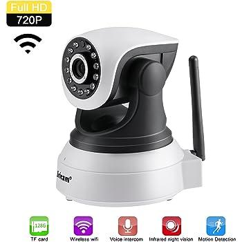 Cámara IP 1280x720P, cámara de vigilancia Wifi - Inalámbrica - Detección de movimiento, visión