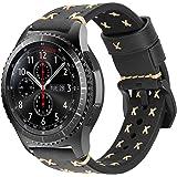 iBazal Bracelet Gear S3 Frontier Classic Cuir Bandes Montre 22mm Compatible avec Samsung Galaxy Watch 3 45mm/Galaxy 46mm SM-R