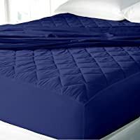 Cloth Fusion Patron 2nd Gen Waterproof Cotton Single Bed Mattress Protector -72x36 Inches- Navy