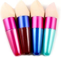 1pcs Make Up Pinsel Kosmetische Schwamm Pinsel Bürste Powder Puff Schwämmchen Puderquaste Schminkschwamm Sponge (Farbe zufällig)