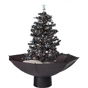 Tannenbaum Der Schneit.Hiskøl Künstlicher Selbstschneiender Weihnachtsbaum Christbaum Tannenbaum Mit Schneefall In 75cm Höhe Mit Schwarzem Schirm