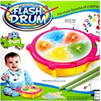 Gifts Online Multicolour Musical Flash Drum - Best Gift for Kids