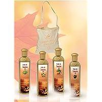 Camylle - Sélection Voile de Sauna avec en cadeau un superbe sac en coton comprenant quatre flacons : 1 x 250ml…