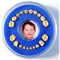 Firsty Baby Tooth Box Round - (Blue, Girl, Boy) - Including Logbooklet and Event Sticker - ABF Fast Delivery