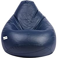 Skyshot Classic Bean Bag Filled with Beans/Fillers (XL, Navy Blue)