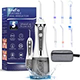 Water Flosser for Teeth Cordless with 5 Modes, Binefia 360° Rotation Oral Irrigator, IPX7 Waterproof, 300ML & 6 Jet Tips…