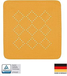 54 x 54 cm Mehrfarbig Kunststoff TPR Wenko Duscheinlage Ginkgo Antirutsch-Duschmatte mit Saugn/äpfen
