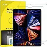 JETech Protector de Pantalla Compatible iPad Pro 12,9 Pulgadas Borde a Borde Pantalla Liquid Retina, Vidrio Templado, 2 Unida