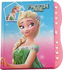 My Party Suppliers Cute Premium Quality Frozen Elsa and Anna Secret Lock Diary for Kids (Multicolour)