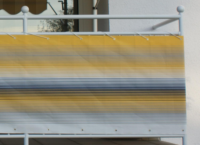 Amazon Angerer Balkonbespannung Nr 500 gelb 75 cm hoch