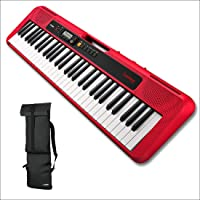 Casio CT-S200RD 61-Keys Portable Keyboard with Casio CBS100 Carry Bag