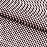 Hans-Textil-Shop Stoff Meterware, Vichy Karo 2x2 mm, Braun,