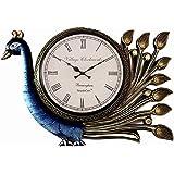 RoyalsCart Peacock Analog Wall Clock, Multi