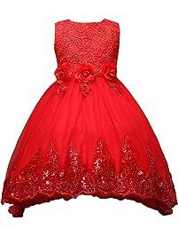 Happy Cherry - Falda Vestido de Ceremonia Bautizo para Bebés Niñas Vestido para Boda Fiesta de