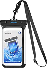 Mpow IPX8 Wasserdichte Handyhülle, Einteilige Universale Trockentasche iPhone X Handytasche, Volltransparente Wasserfeste Hülle für iPhone X / 8/8 Plus / 7/7 Plus, Samsung Galaxy S9 / S8 / Note 8, Google Pixel / Pixel Plus, HTC