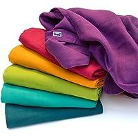 divata - Colorate Mussole per Neonato, 80x80cm (6 Pezzi, Set Arcobaleno) - Mussola di Garza Morbida 100% Cotone | Regalo…
