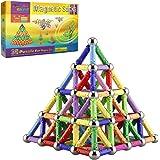 Veatree 160 Pezzi Puzzle Blocchi magnetici Giocattoli, Costruzione di Magnete Kit di Costruzione Giocattoli educativi per Bam