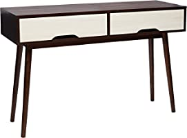Maison Concept SR 4122 Wooden Desk, Brown & White - H 400 mm x W 400 mm x D 1200 mm