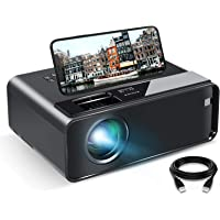 Elephas WiFi Vidéoprojecteur 7500 Lux Rétroprojecteur Supporte 1080P Full HD Portable Projecteur Vidéo Compatible iPhone…