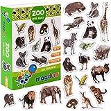 MAGDUM Imanes Animales Zoo Foto Real Infantil para niños - Imanes Nevera Grandes - Juguetes ED-UCATIVOS bebé 3 años - Imanes