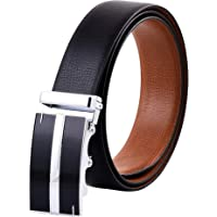 Belts for Men Reversible Leather Belt With Automatic Smart Buckle