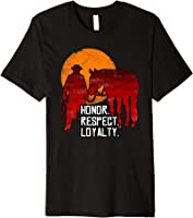 Red Horse Sunset T-Shirt - Honor. Respect. Loyalty.