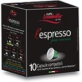Caffè Trombetta L'Espresso, Capsule Compatibili Nespresso, Più Crema - 10 Capsule