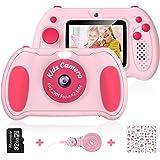 Cámara Digital para Niños, Hommie 32GB Camara Fotos Infantil de Doble Lente 1200MP/1080P con Speedlite, 3 Juegos y Reproducto