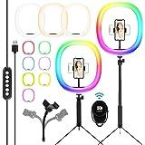 Selfie ringlamp en verstelbaar statief met houder voor mobiele telefoon voor live streamen/make-up/YouTube/TikTok/fotografie/