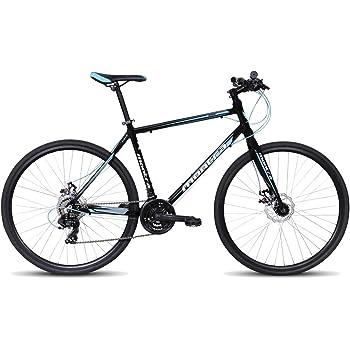 Montra Downtown(2017) 700X35C 21 Speed Dual Disc Brake Stylish Sporty Black & Sky Blue Alloy Bike/Bicycle