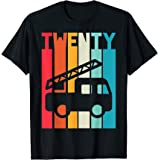 20 Ans Anniversaire Retro camion de pompiers Garçon Filles T-Shirt