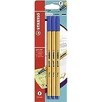 Stylo feutre pointe fine - STABILO point 88 - Pack 3 stylos-feutres - Bleu