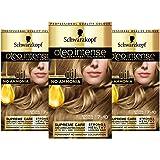 Schwarzkopf Oleo biondo intenso tintura per capelli, confezione da 3 pezzi, colore olio permanente, senza ammoniaca, copre i