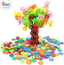 iDream 150pcs 2.3cm Multicolour Interlocking Snowflakes Model Building Block Creative Educational Toy for Kids