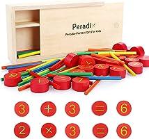 Peradix Rechenstäbchen Holz Zahlen Mathematik Spielzeug Ausbildung für Kinder