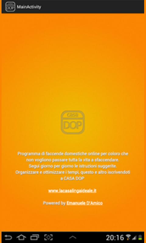 Casa dop programma di faccende domestiche for Faccende domestiche in inglese