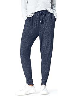 T-INSIDE Pantalon de Jogging Femme Coton avec Cordon de Serrage ... 4a36456bec7