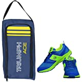 Gowin Bright Blue/Green Size-6 with Triumph Shoe Carry Bag Ace Kb-802 Navy/Yellow