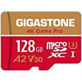Gigastone 128GB Micro SD Card, 4K Game Pro, Nintendo-Switch SD Card Compatible, A2 Run App, 4K Video Recording, R/W up to 100