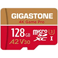 Gigastone 128GB Micro SD Card, 4K Game Pro, Nintendo-Switch SD Card Compatible, A2 Run App, 4K Video Recording, R/W up…